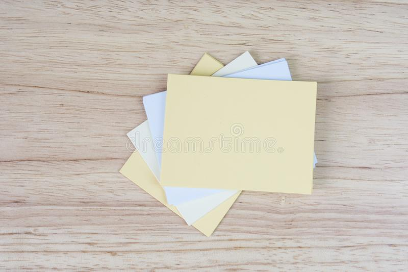 Memo paper notes Motivating quote on sticky paper royalty free stock images