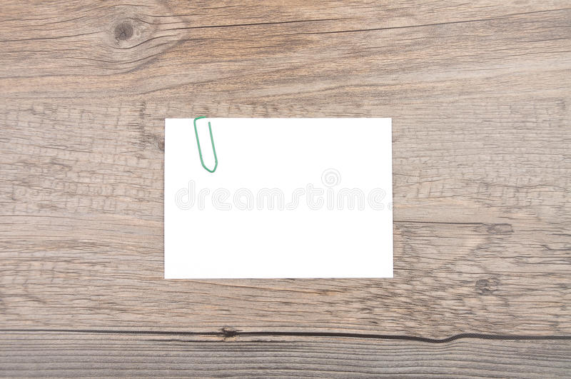Memo on wood stock image