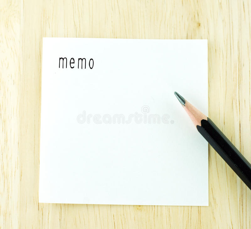 Download Memo Word On Notepad And Pencil On Wood Table Stock Image   Image  Of Office  Notepad Template For Word