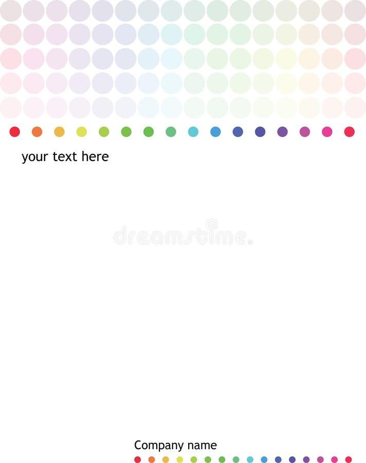 Memorándum del arco iris ilustración del vector