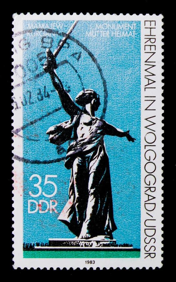 ` Memorável Volgograd da pátria do `, serie internacional dos lembretes e dos memoriais, cerca de 1983 fotos de stock