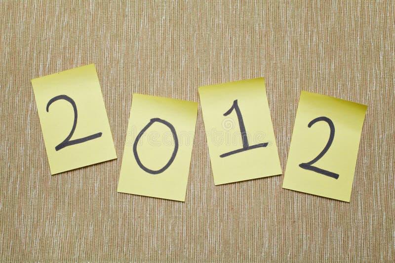 memorando 2012 fotos de stock royalty free