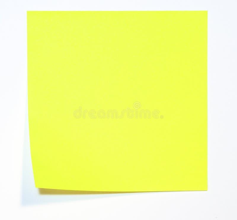 Memorando amarelo imagens de stock