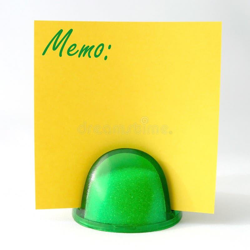 Memorando amarelo fotografia de stock royalty free