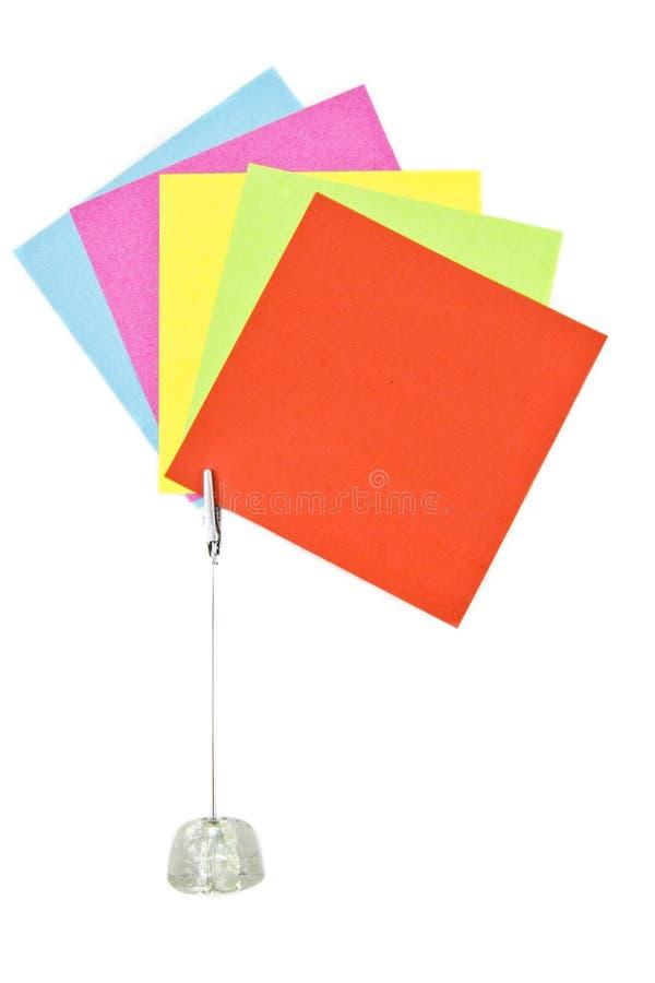 Memorando colorido fotografia de stock