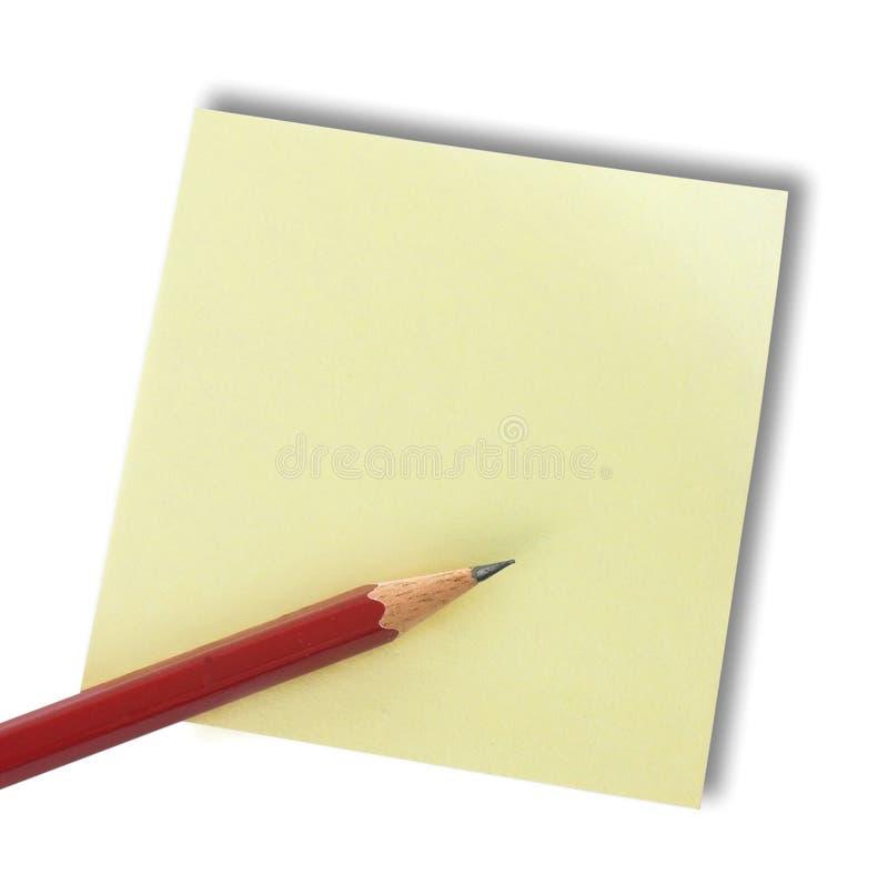 Memorando e lápis foto de stock royalty free