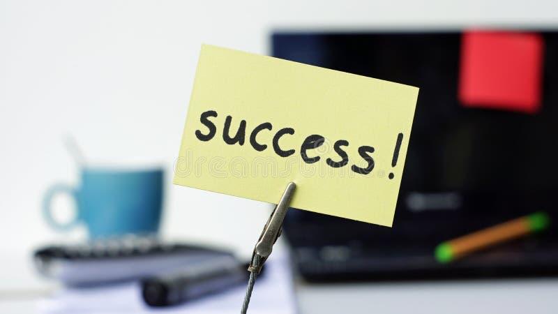 Memorando escrito sucesso imagem de stock royalty free