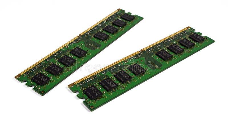 Memoria de acceso aleatorio DDR2 fotografía de archivo libre de regalías