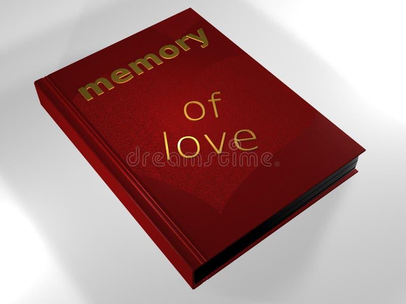 Memoria del amor - libro - 3D ilustración del vector
