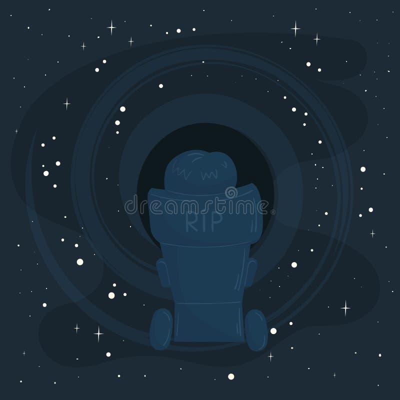 In memoria di Stephen Hawking RIP editoriale illustrazione di stock