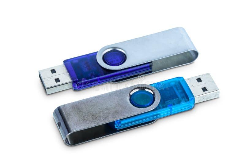 Memoria portatile o chiavetta USB del usb isolata fotografia stock libera da diritti