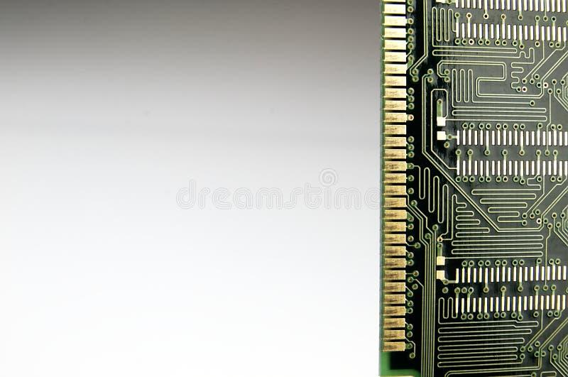 Memoria ram de vista de debajo imagen de archivo