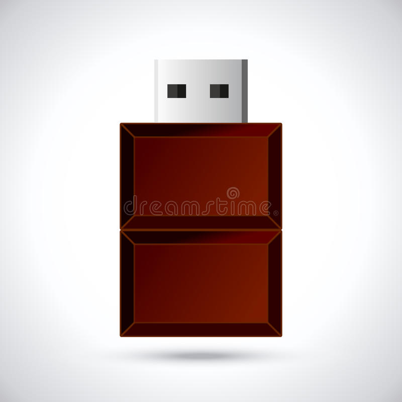 Download Memoria USB del chocolate stock de ilustración. Ilustración de moderno - 42432604
