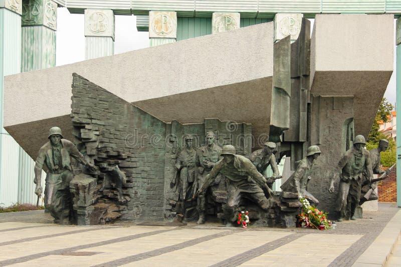 Memorial à insurreição 1944 em Varsóvia. Poland foto de stock