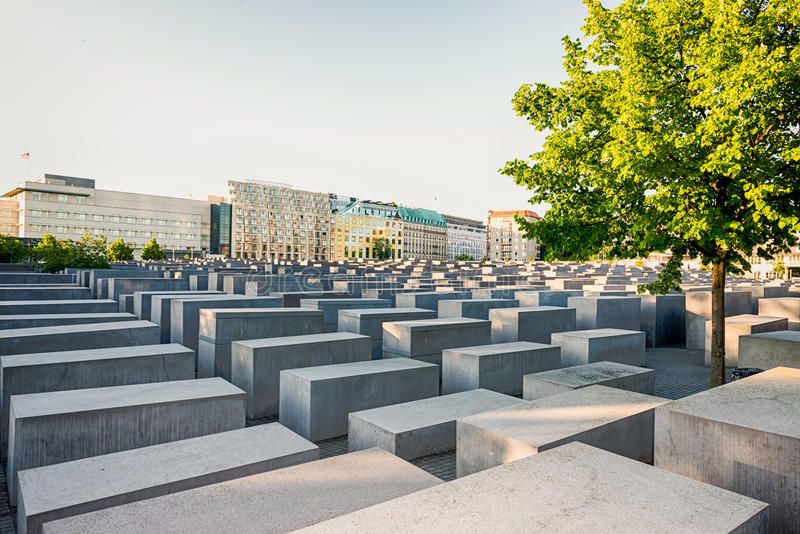 Memorial aos judeus assassinados de Europa, Berlim imagens de stock
