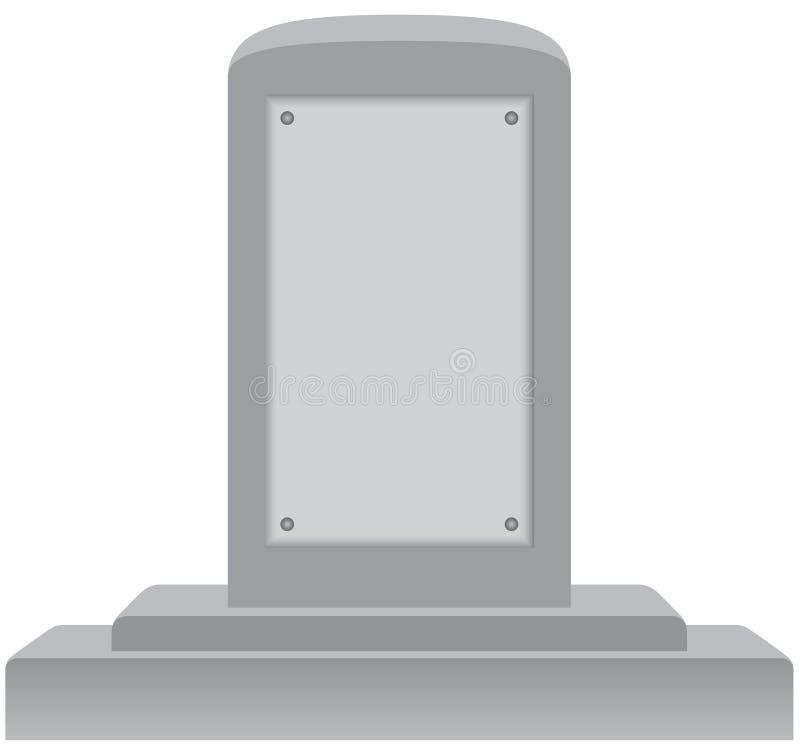 Download Memorial with Blank Plaque stock vector. Illustration of memorial - 13961710