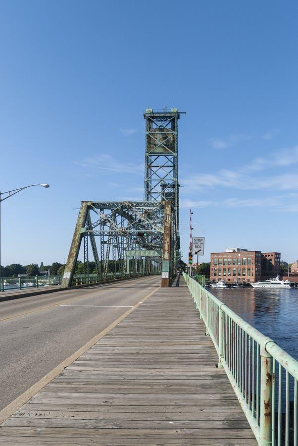 Memorial Bridge over the Piscataqua River royalty free stock photography