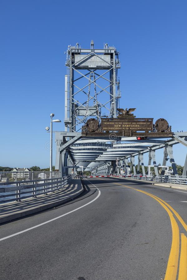 The Memorial Bridge over the Piscataqua River, in Portsmouth, w stock images