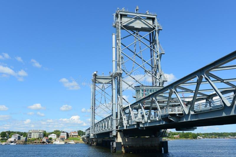 Memorial Bridge, Portsmouth, New Hampshire royalty free stock image