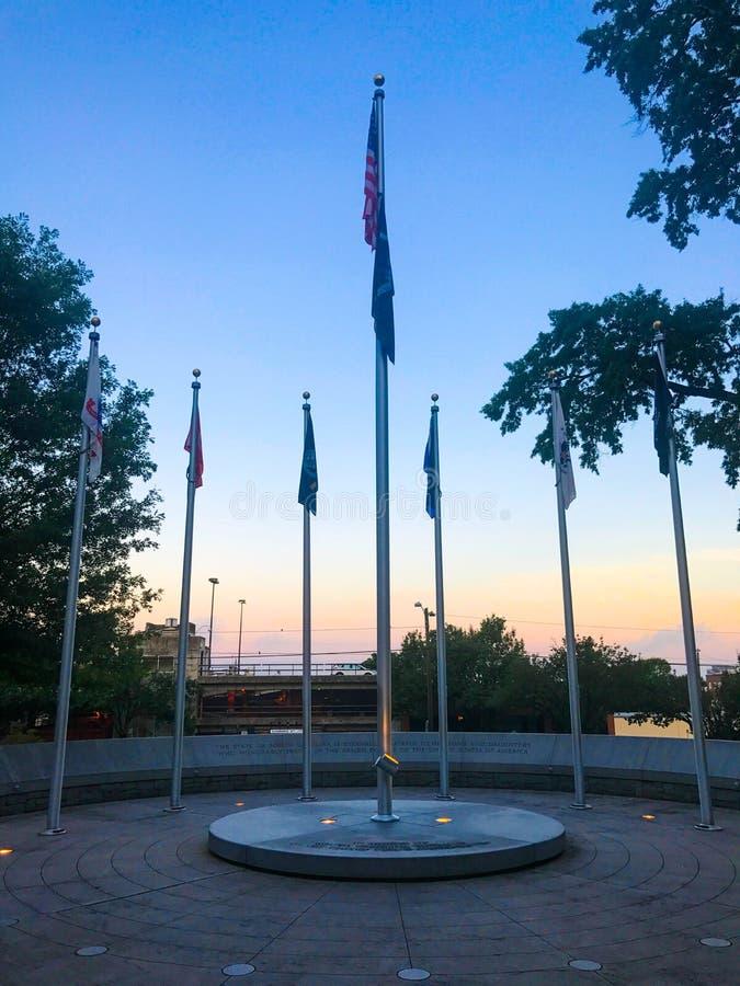 Memorial a Carolina Veterans sul das forças armadas de Estados Unidos fotografia de stock