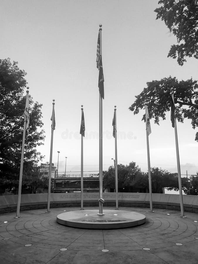 Memorial a Carolina Veterans sul das forças armadas de Estados Unidos imagens de stock royalty free
