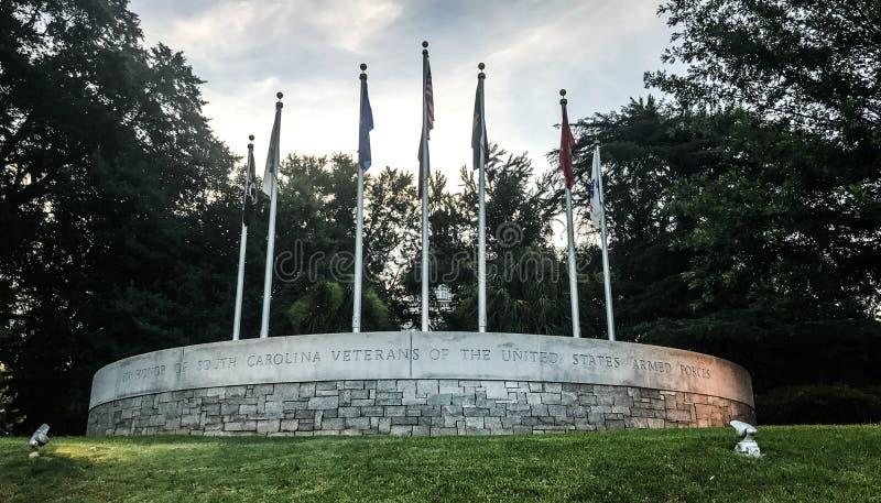 Memorial a Carolina Veterans sul das forças armadas de Estados Unidos fotos de stock royalty free