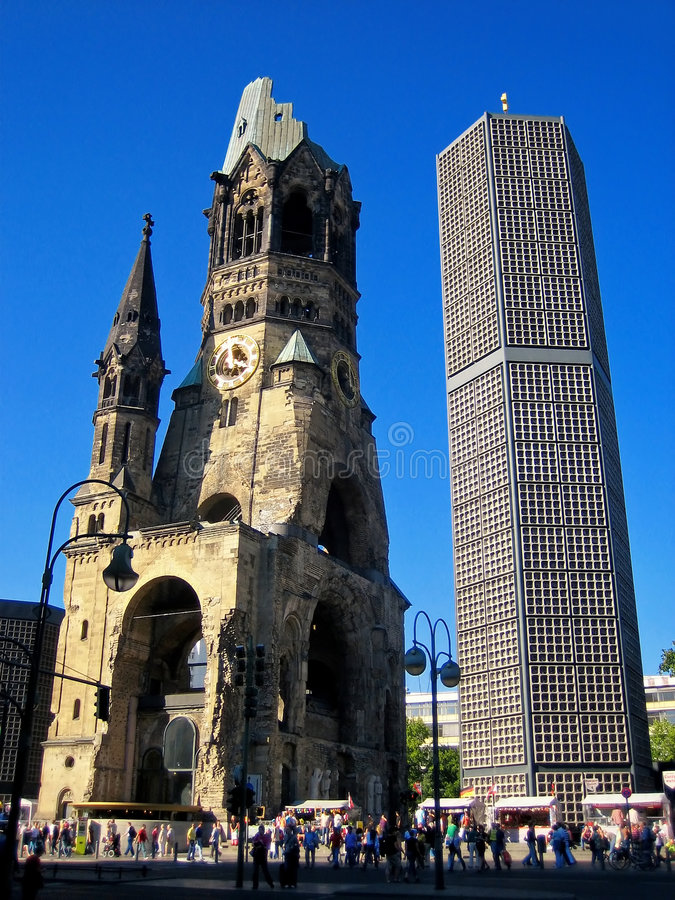 Memorial Church. View of the Berlin Memorial Church (Gedächtniskirche royalty free stock photo