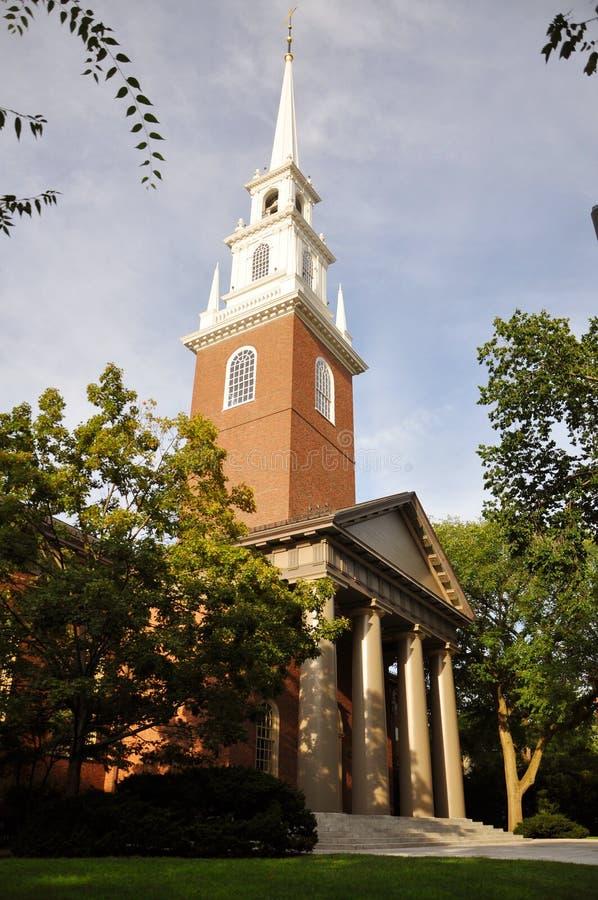 Memorial Church, Harvard University, Cambridge, MA royalty free stock image