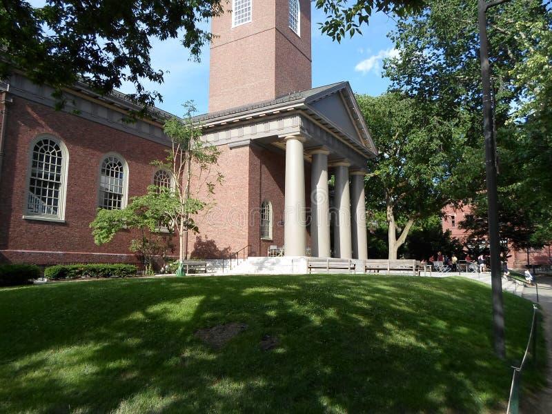 Memorial Church, Harvard Yard, Harvard University, Cambridge, Massachusetts, USA royalty free stock photography