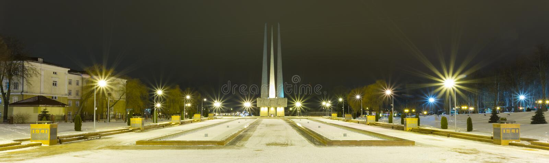 Memorial Complex `Three Bayonets` in Vitebsk royalty free stock photo