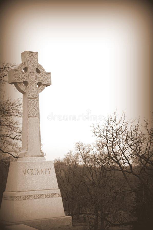 Memorial da cruz celta do Sepia imagem de stock