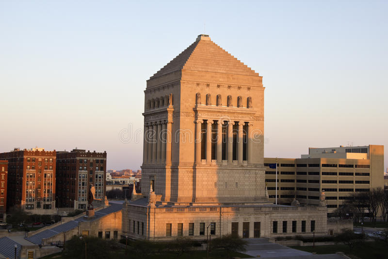 Memorial da guerra de mundo de Indiana imagem de stock royalty free
