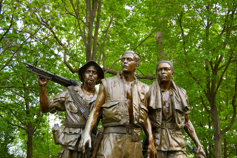 Memorial da guerra de Vietnam imagens de stock royalty free