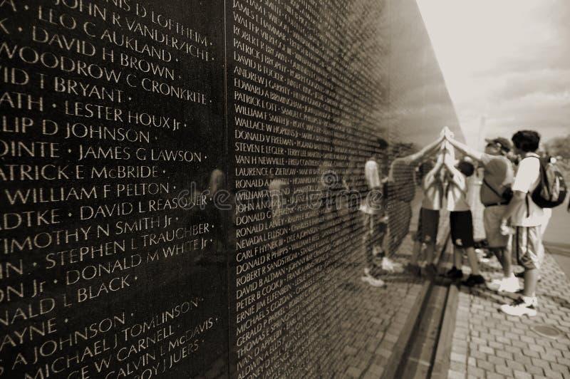 Memorial da guerra de Vietnam fotos de stock royalty free
