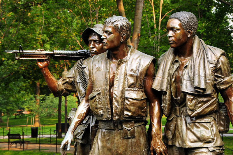 Memorial da guerra de Vietnam fotografia de stock