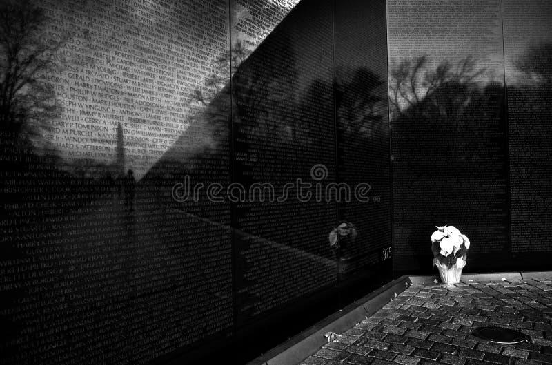 Memorial da guerra de Vietnam no Washington DC fotografia de stock royalty free