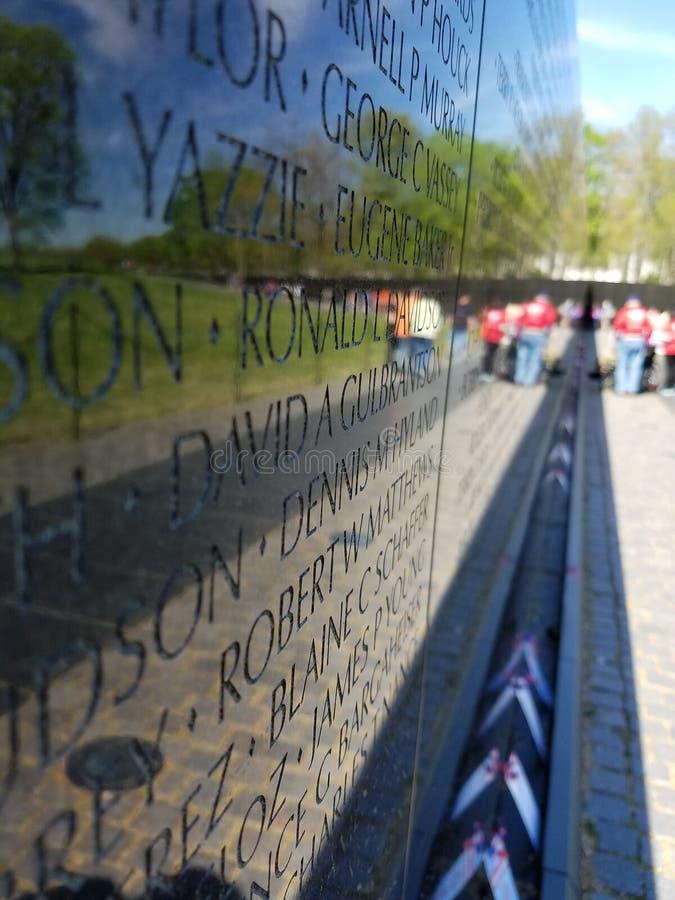 Memorial da guerra de Vietnam no Washington DC fotos de stock