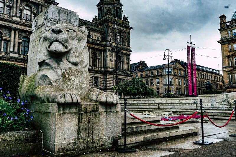 Memorial da guerra do centro da cidade de Glasgow fotografia de stock royalty free