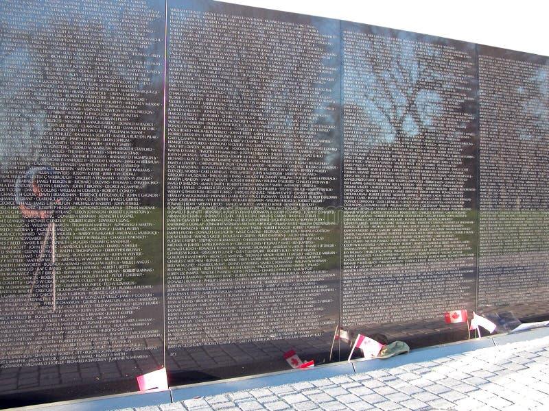 Memorial da parede de Vietnam fotografia de stock