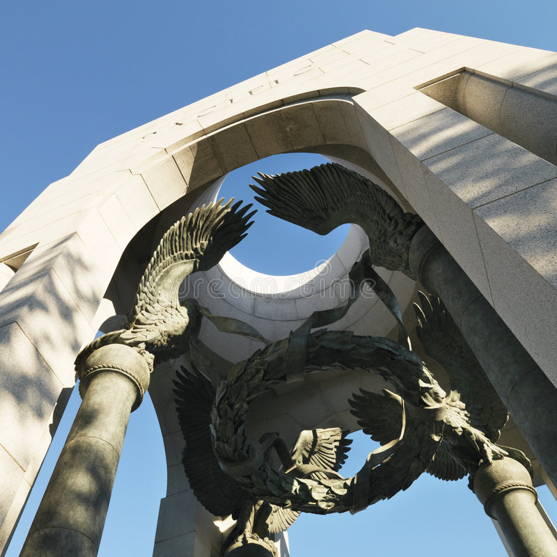 Memorial da segunda guerra mundial foto de stock