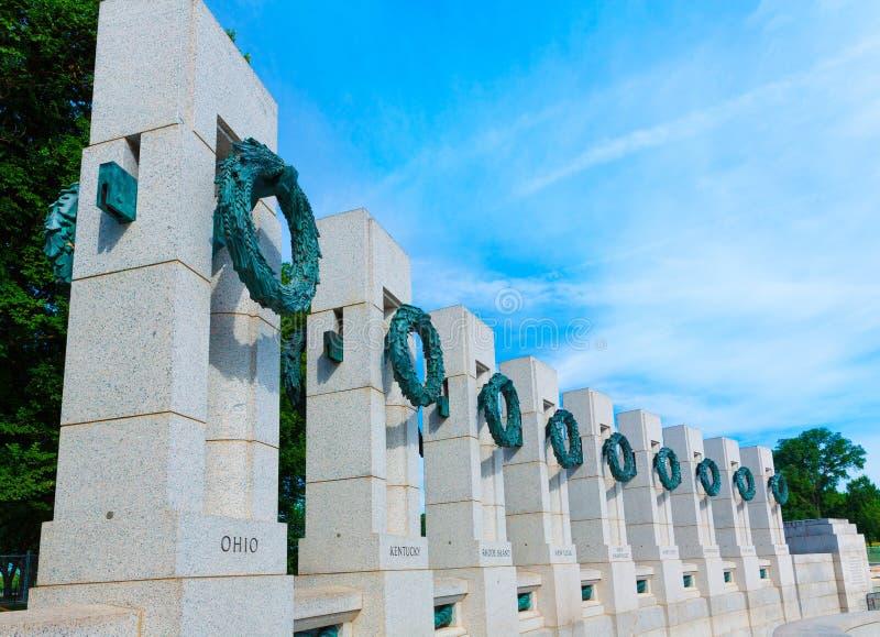 Memorial da segunda guerra mundial em C.C. EUA de Washington fotos de stock royalty free