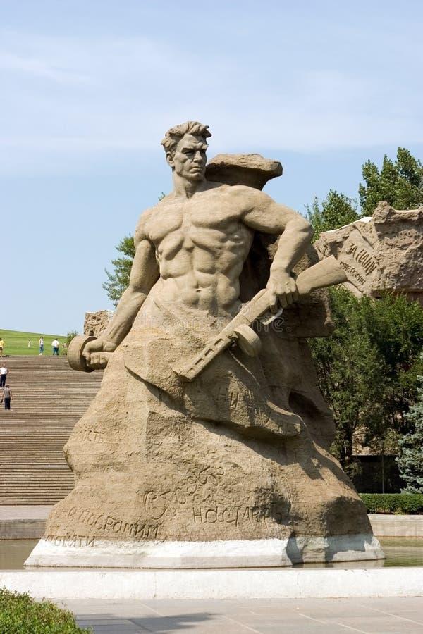 Memorial da segunda guerra mundial em Volgograd Rússia fotos de stock