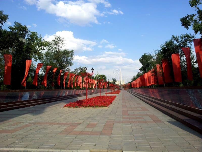 Memorial da segunda guerra mundial, Shymkent fotos de stock royalty free