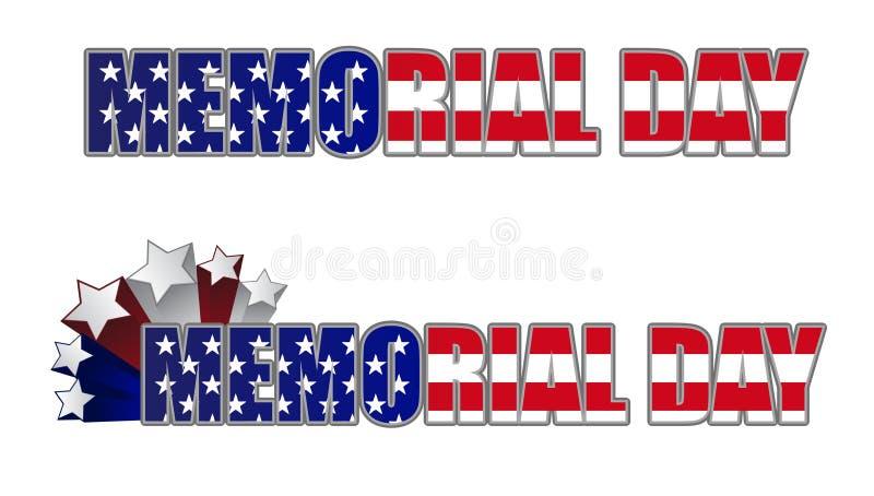 Memorial Day ilustración del vector