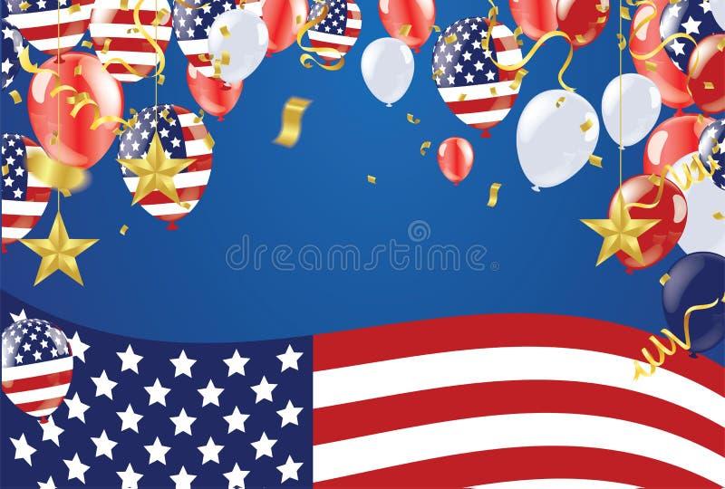 Memorial Day -Achtergrond van verkoop de Gelukkige Memorial Day De vlagbanner van de V.S. stock illustratie