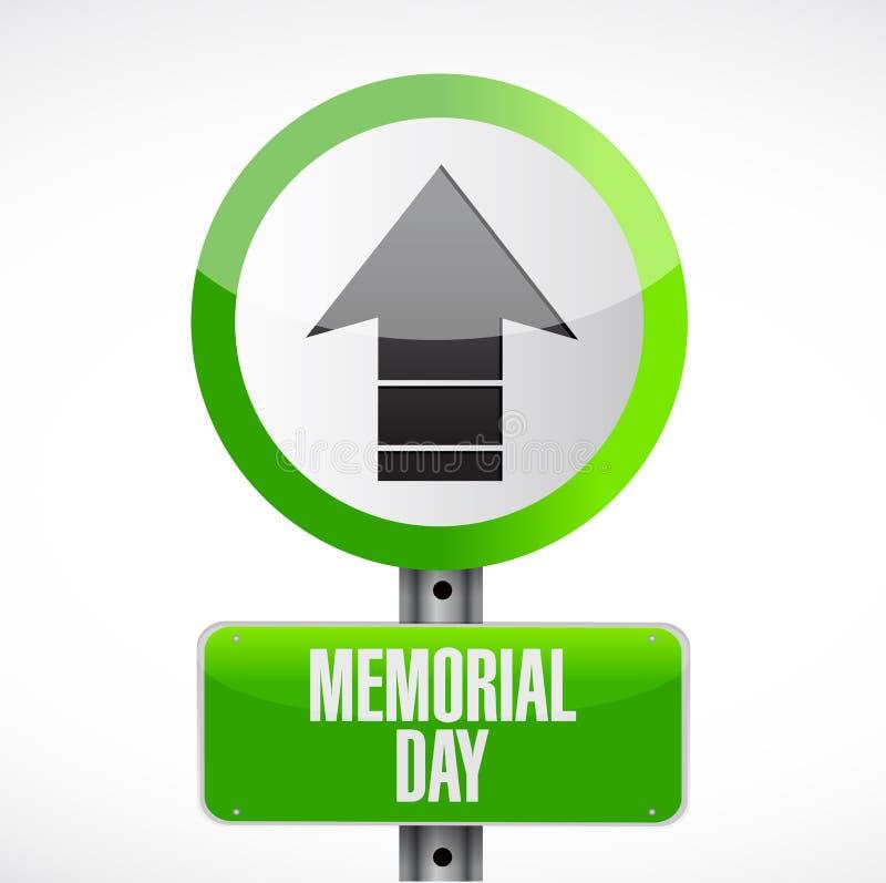 Memorial Day acima do projeto da ilustração do sinal da seta ilustração stock
