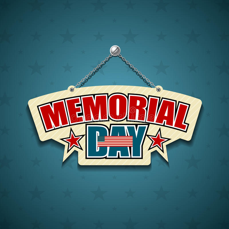 Download Memorial Day American Signs Stock Vector - Image: 32833899