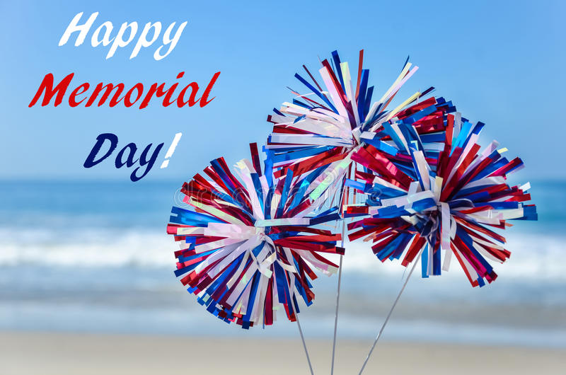 Memorial day background on the beach stock image