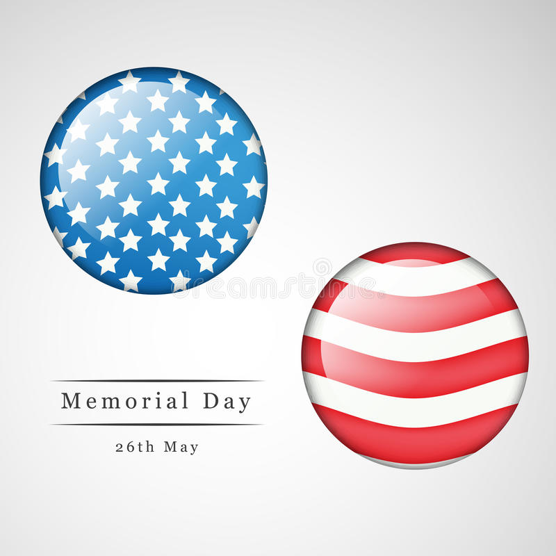 Memorial Day background royalty free illustration