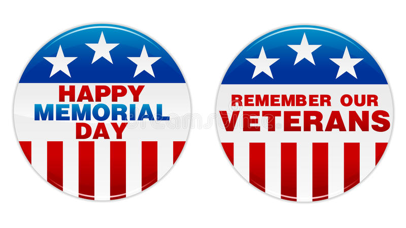 Memorial Day Badge. An illustration of a memorial day badge. Shadows placed on separate layer